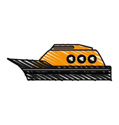 Yellow boat vector