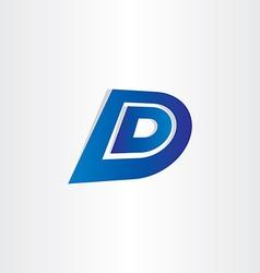 blue letter d icon design vector image vector image