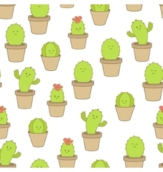cactus in a pot vector image