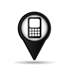 calculator map pin icon vector image