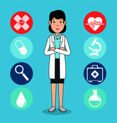 doctor medical center cartoon vector image