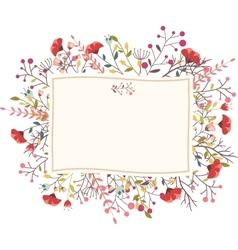 Retro flower for wedding invitation vector image