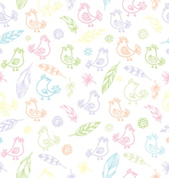 soft birds pattern vector image vector image