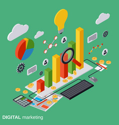 Digital marketing management concept vector image vector image