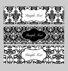 Labels on Damask Background vector image vector image