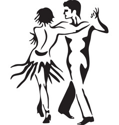 Latin dance rumba dancing couple vector image