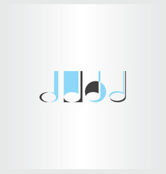 musical note logo set element vector image