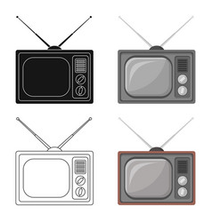 old tvold age single icon in cartoon style vector image vector image