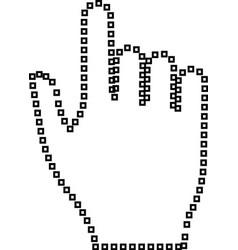 pixel hand it is black icon vector image