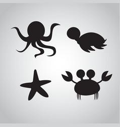 sea animals design vector image