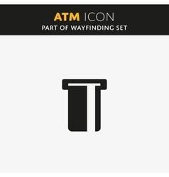 atm icon vector image