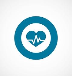 heart pulse bold blue border circle icon vector image vector image