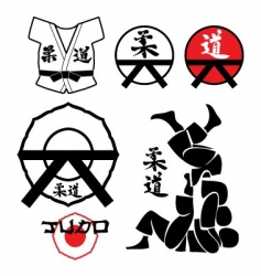 judo design elements vector image