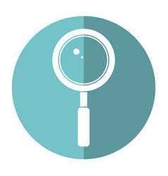 search loupe school shadow vector image vector image