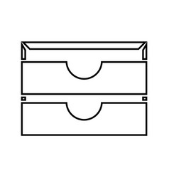 two stationary paper tray it is black icon vector image vector image