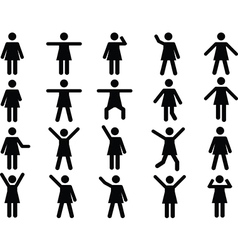 Woman pictograms vector image