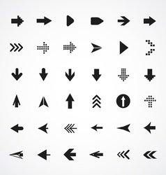 Arrows collection vector image
