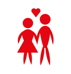 Man and woman pictogram icon couple design vector