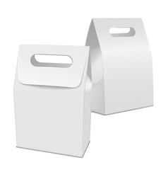 set of blank white 3d model cardboard take away vector image vector image