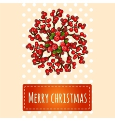 Simple bright Christmas card with greetings vector image