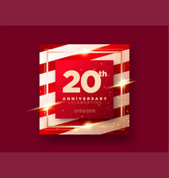 20 years anniversary celebration card 20th vector