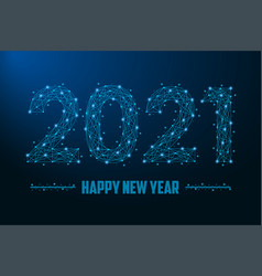 2021 new year made points and line vector image