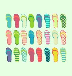 24 Summer Sandals vector