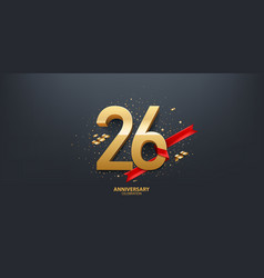 26th year anniversary background vector