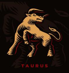 A taurus zodiac sign vector