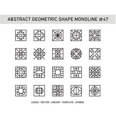 Abstract geometric shape monoline 47 vector
