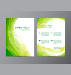 abstract modern wavy green flowing flyer vector image