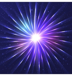 Abstract neon shining star vector