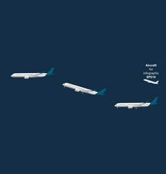 airplane for infographic vector image