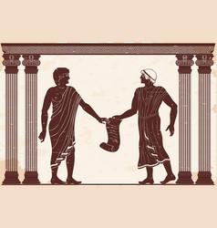 Ancient greek justice vector