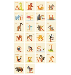 Animal alphabet set vector