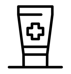 antiseptic cream icon outline style vector image