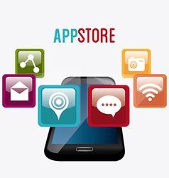 App store digital design vector image