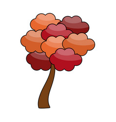 autumn tree symbol vector image