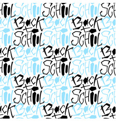 Back to school seamless pattern handwritting vector