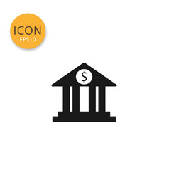 bank icon isolated flat style vector image
