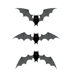 Bat flying cycle for animation vector