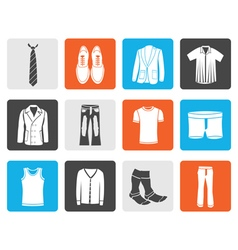 Black man fashion and clothes icons vector