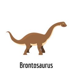 Brontosaurus icon flat style vector