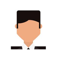 Businessman profile cartoon vector