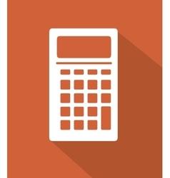 Calculator digital math flat icon vector