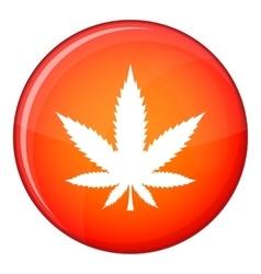 Cannabis leaf icon flat style vector