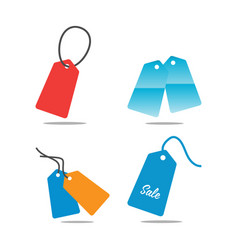 collection price tag template vector image