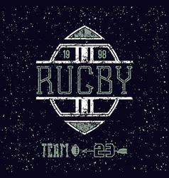 College emblem rugby team vector