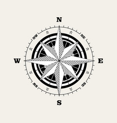 compass rose windrose navigational scale vector image
