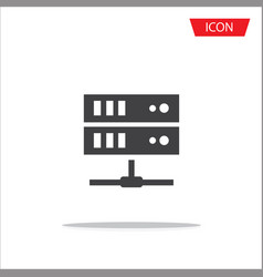 computer server icon server symbols isolated on vector image